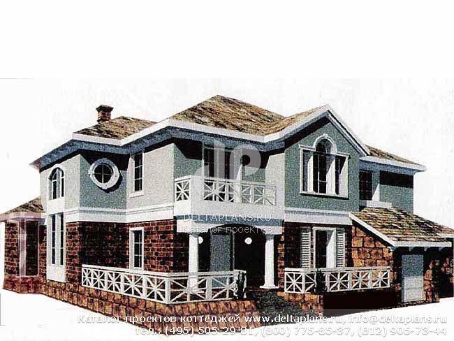 Кирпичный дом. Проект № R-560-1K