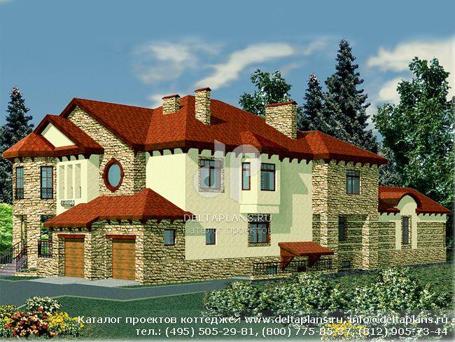 Кирпичный дом. Проект № R-664-1K