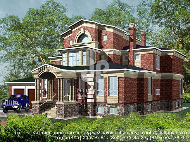 Кирпичный дом. Проект № R-761-1K