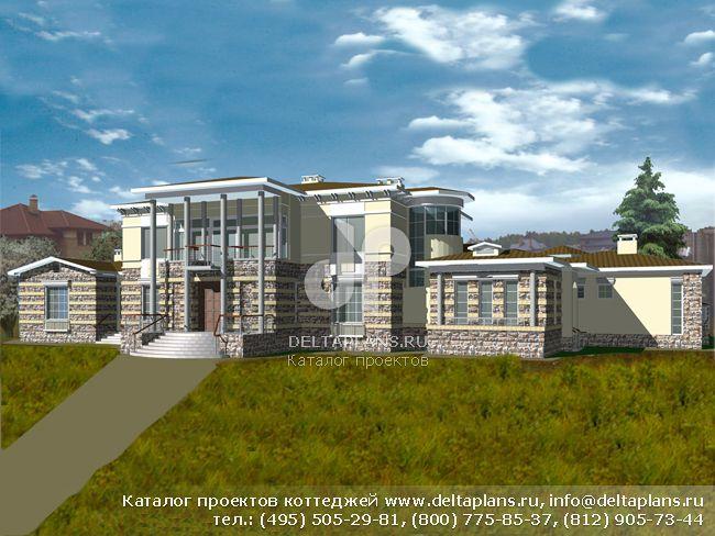Кирпичный дом. Проект № R-852-1K