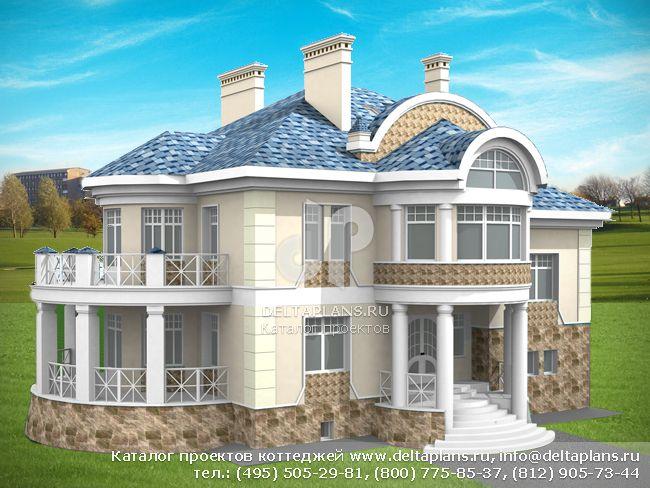 Пенобетонный дом. Проект № S-415-1P