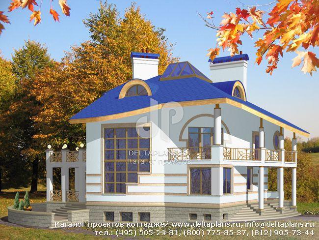 Пенобетонный дом. Проект № S-488-1P