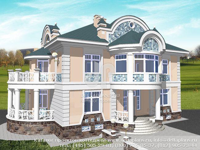 Кирпичный дом. Проект № S-541-1K