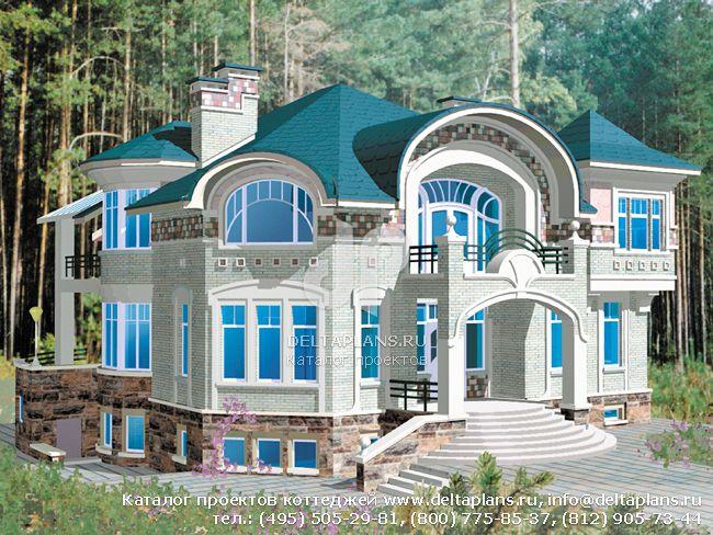 Кирпичный дом. Проект № S-670-1K