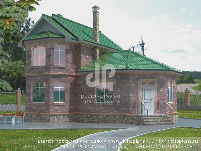 Пенобетонный дом. Проект № T-084-1P