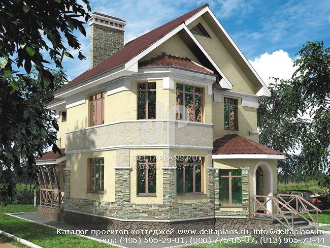 Кирпичный дом. Проект № T-107-1K