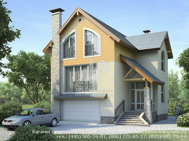 Пенобетонный дом. Проект № T-192-1P