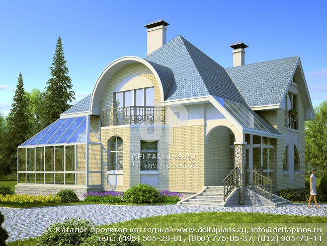 Пенобетонный дом. Проект № T-196-1P