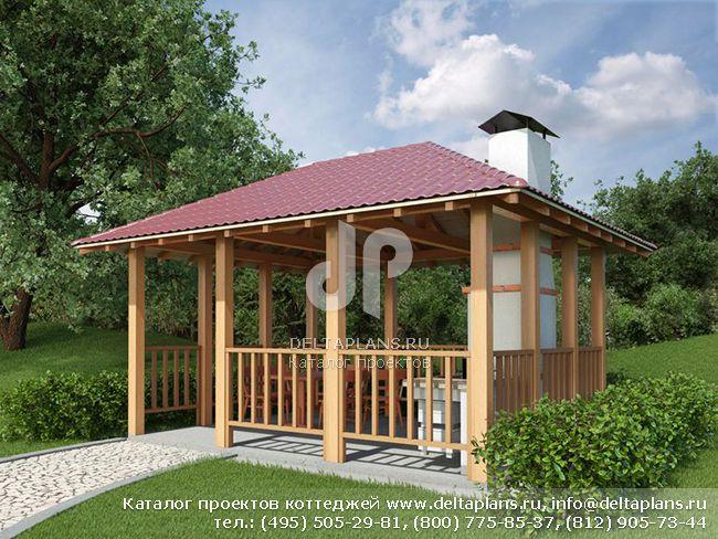 Деревянный дом. Проект № U-019-1D