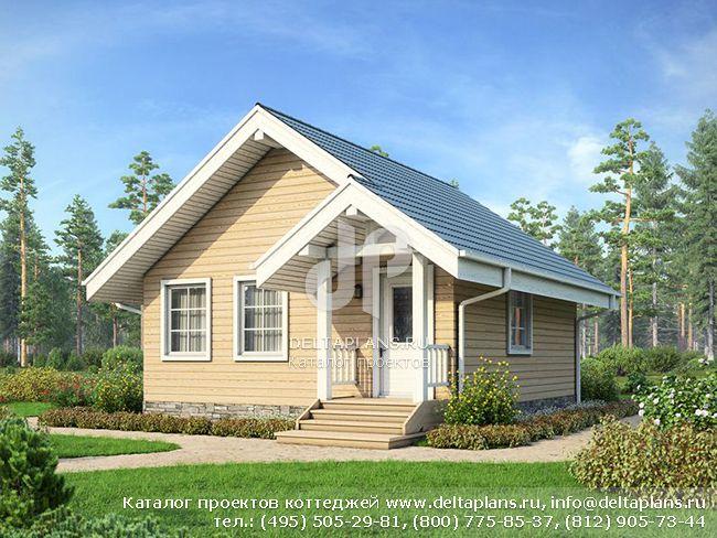 Деревянный дом. Проект № U-049-1D