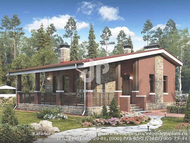 Проект квадратного одноэтажного дома № U-050-1K