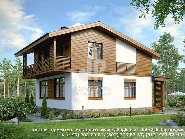 Пенобетонный дом. Проект № U-119-1P
