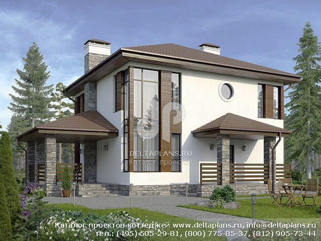 Пенобетонный дом. Проект № U-144-1P