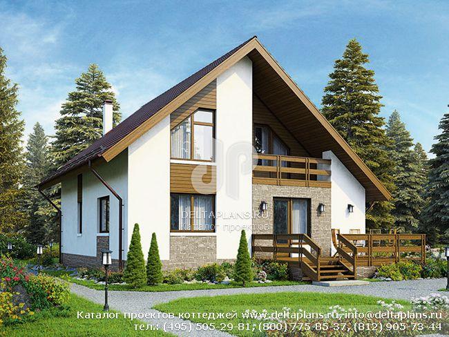 Пенобетонный дом. Проект № U-153-2P