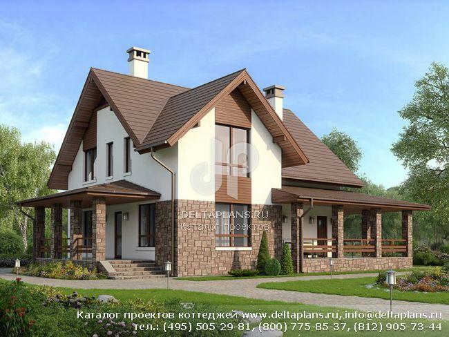 Пенобетонный дом. Проект № U-164-1P