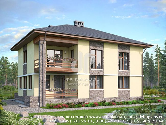 Пенобетонный дом. Проект № U-170-1P