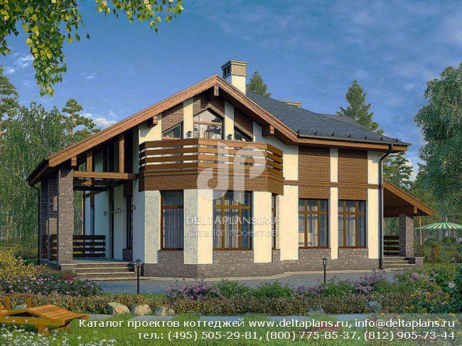 Пенобетонный дом. Проект № U-182-1P