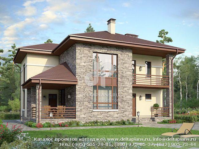 Кирпичный дом. Проект № U-183-1K