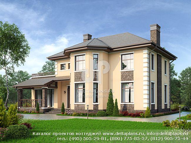 Пенобетонный дом. Проект № U-184-1P
