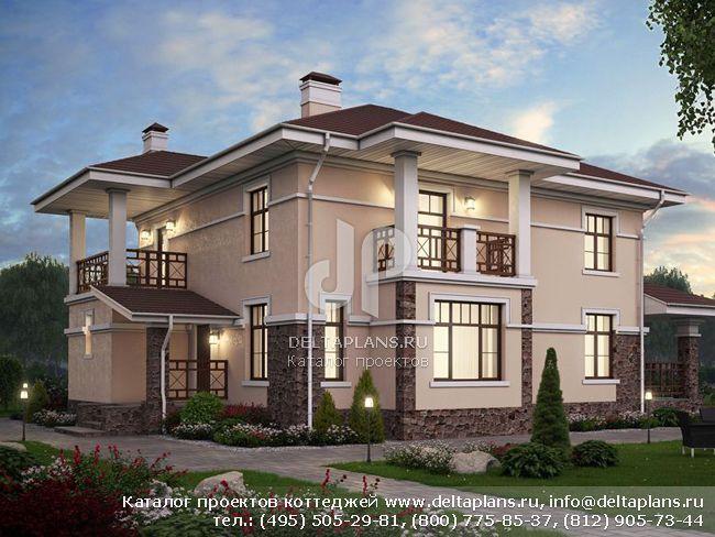 Пенобетонный дом. Проект № U-198-1P