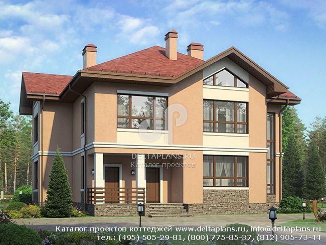 2 этажный дом со вторым светом № U-220-1P