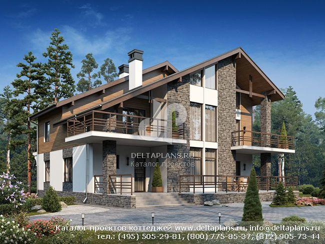 Кирпичный дом. Проект № U-266-1K