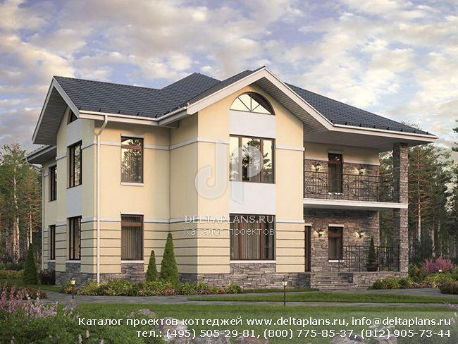 Загородный дом для большой семьи проект № U-302-1P