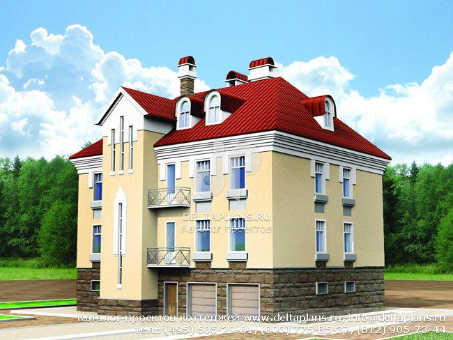 Кирпичный дом. Проект № U-433-1K