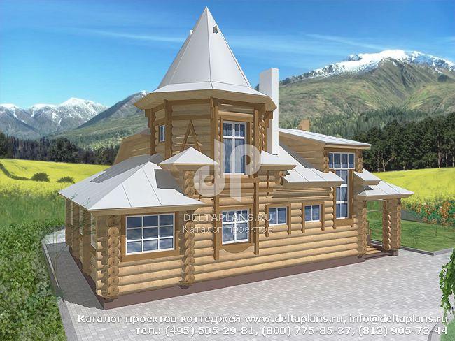 Деревянный дом. Проект № V-187-1D