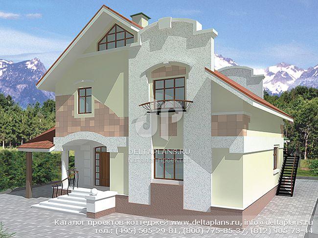 Пенобетонный дом. Проект № V-196-1P