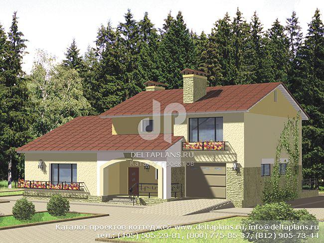 Пенобетонный дом. Проект № V-208-1P