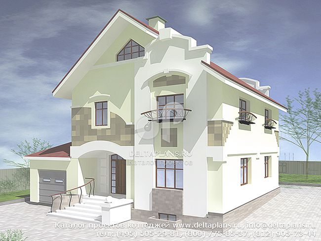 Пенобетонный дом. Проект № V-263-1P