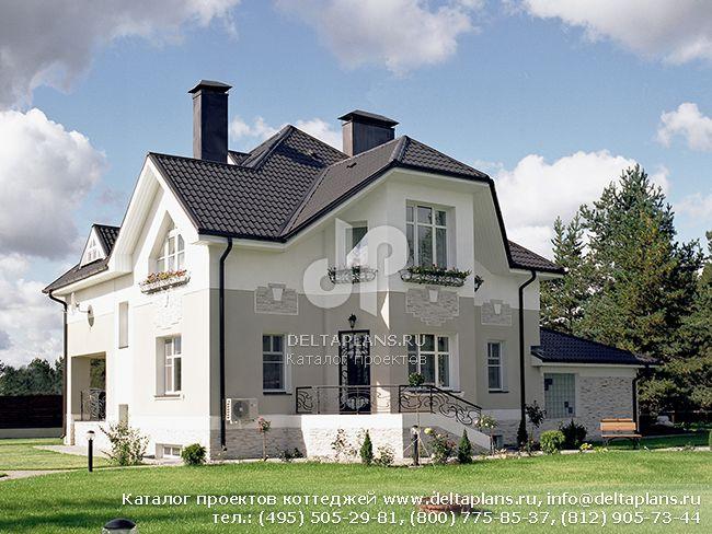 Пенобетонный дом. Проект № V-336-1P