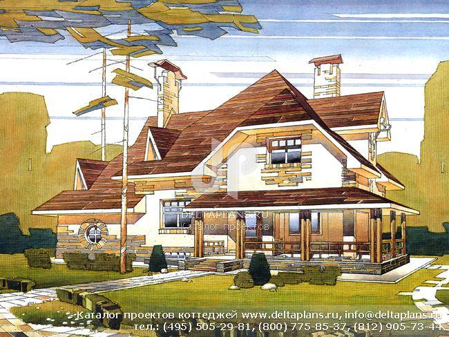 Пенобетонный дом. Проект № V-352-1P