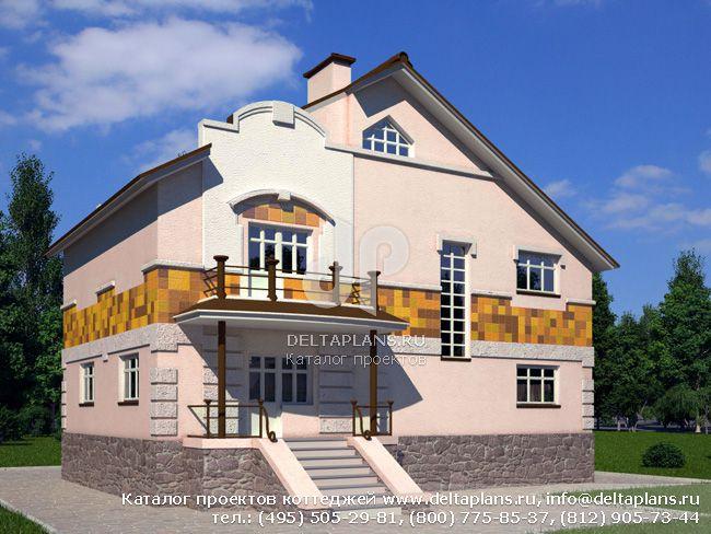 Кирпичный дом. Проект № V-374-1K