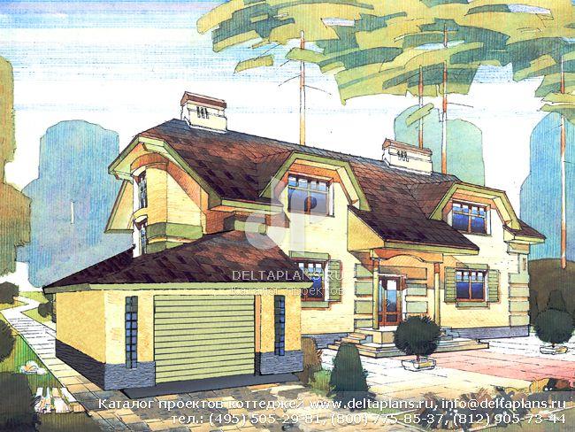 Кирпичный дом. Проект № V-414-1K