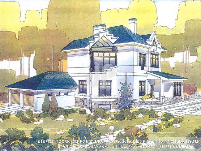 Пенобетонный дом. Проект № V-458-1P