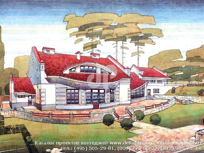 Пенобетонный дом. Проект № V-524-1P