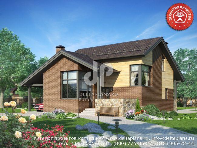 Пенобетонный дом. Проект № W-138-1P