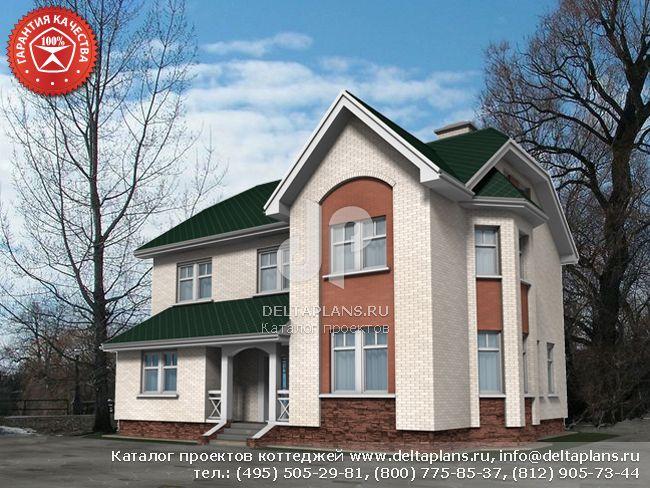 Пенобетонный дом. Проект № W-157-1P