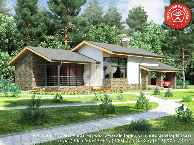 Дачный дом из профилированного бруса под ключ - Проект