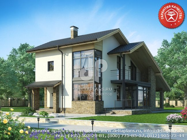 Пенобетонный дом. Проект № W-179-1P