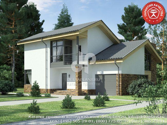 Пенобетонный дом. Проект № W-194-1P
