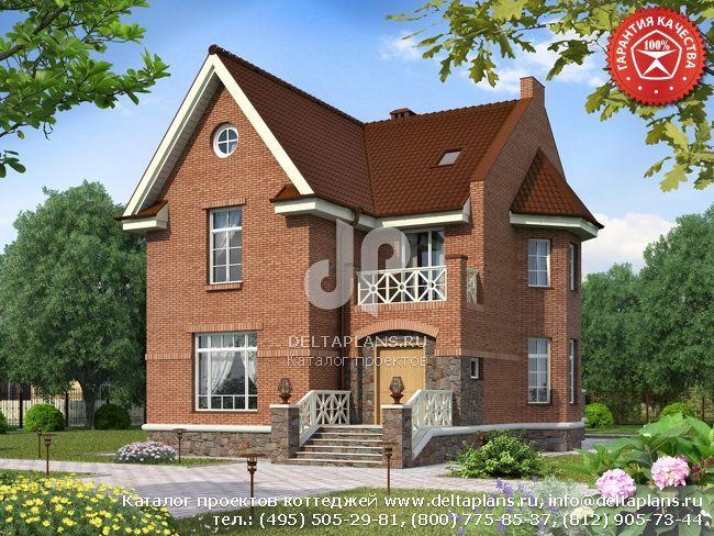 Пенобетонный дом. Проект № W-217-1P