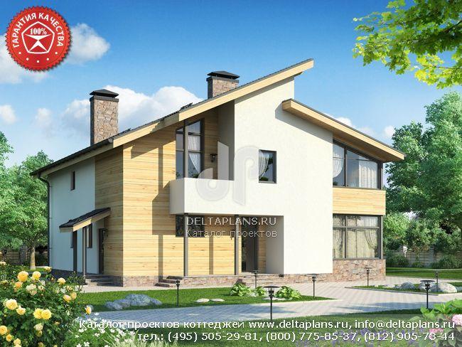 Пенобетонный дом. Проект № W-282-1P