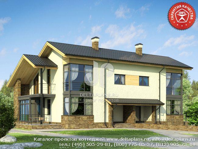 Пенобетонный дом. Проект № W-289-1P