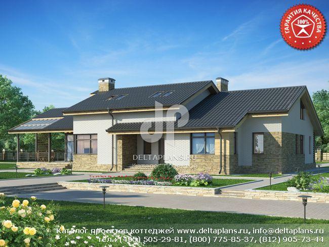 Пенобетонный дом. Проект № W-334-1P