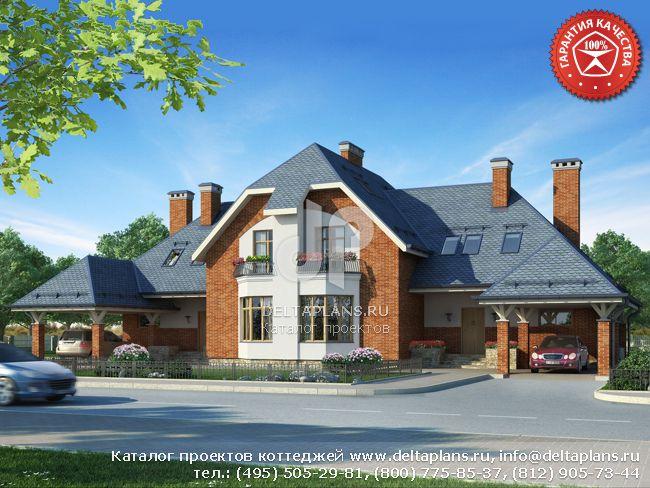 Пенобетонный дом. Проект № W-391-1P