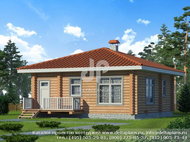 1 этажный дом проект № X-060-1D