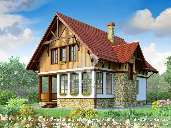 Каркасный дом. Проект № X-127-1S